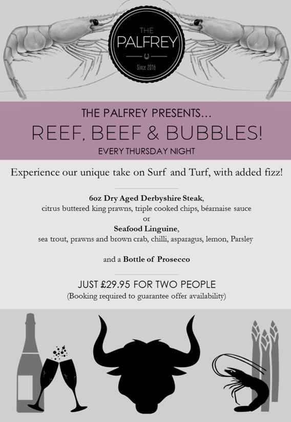 Palfrey Reef & Beef Menu 2017