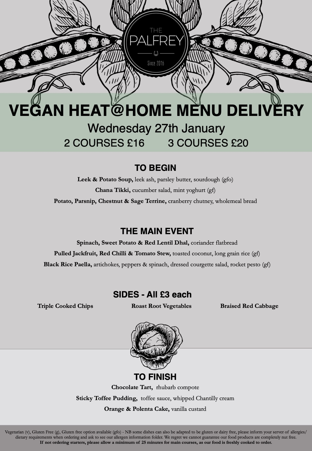 vegan delivery menu